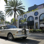 Rolls Royce palm trees