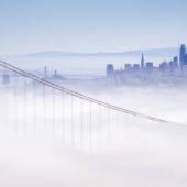 A view of San Francisco shrouded in fog