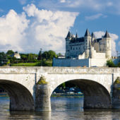 The beautiful town of Saumur in France