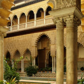 The alcazar courtyard, seville