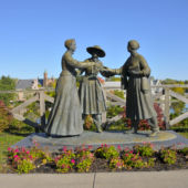 Statue of Susan B. Anthony, Amelia Bloomer and Elizabeth Cady Stanton, Seneca Falls, New York