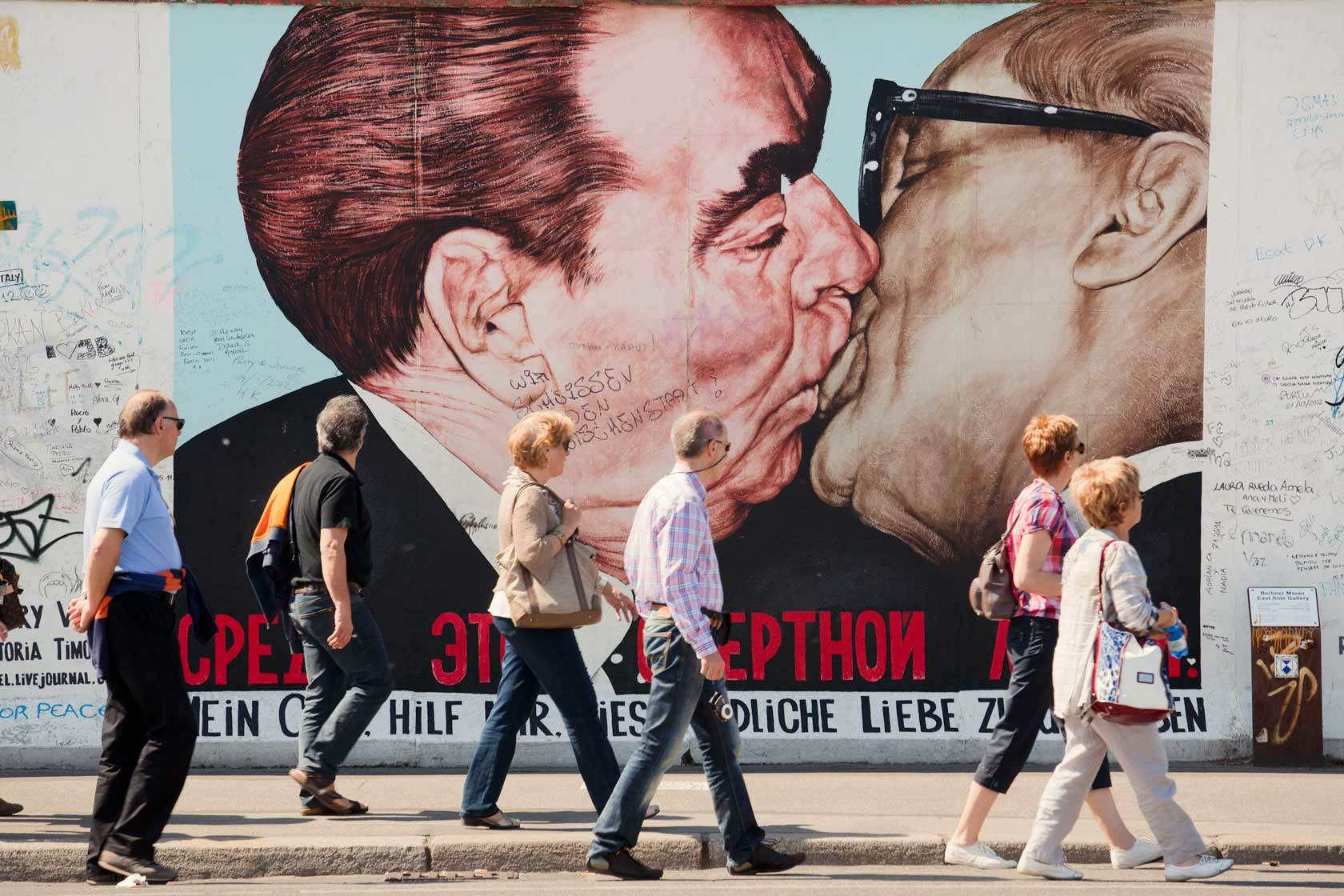 The painting 'My God, Help Me to Survive This Deadly Love' on the East Side Gallery in Berlin.