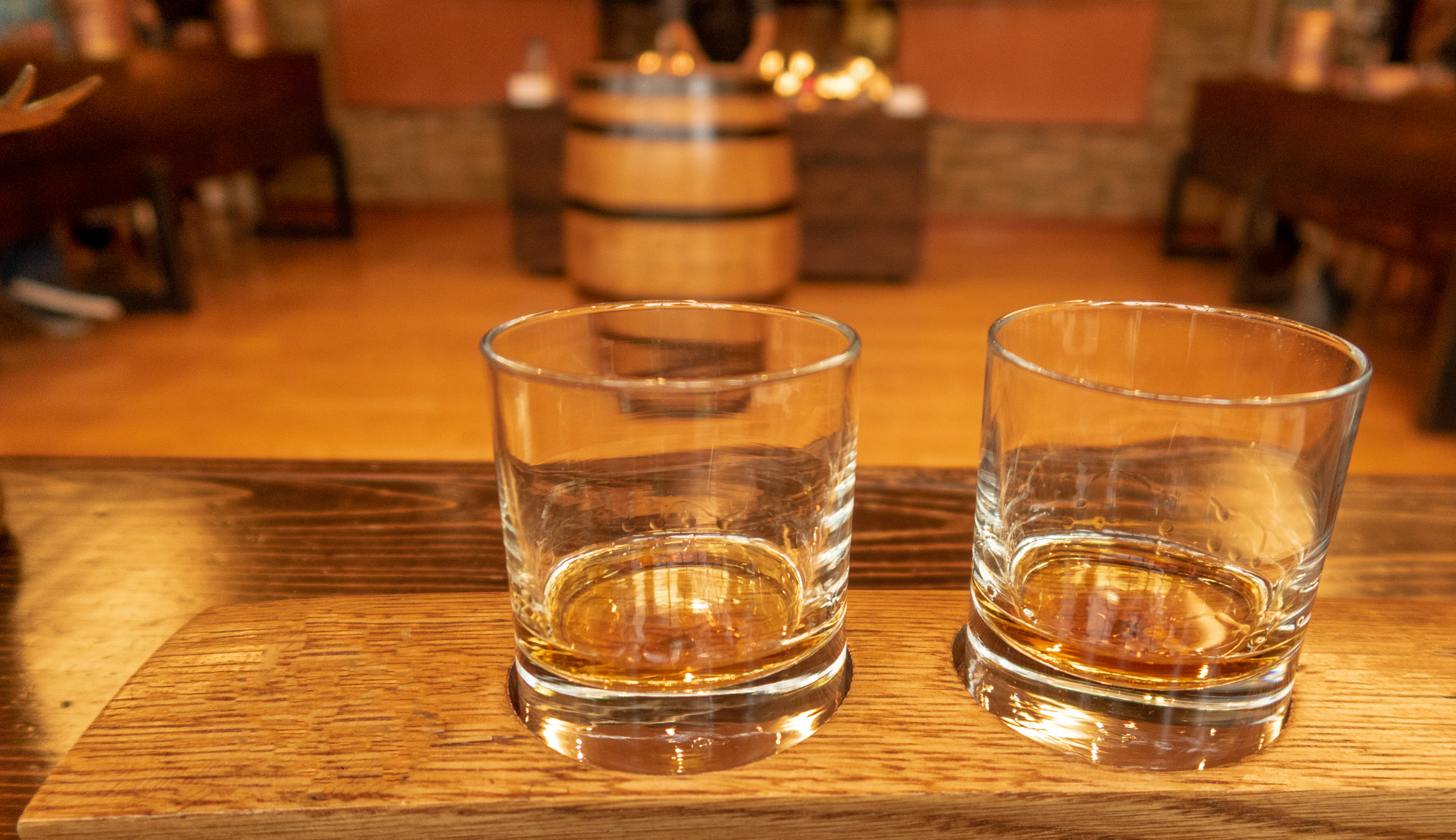 Two glasses of bourbon