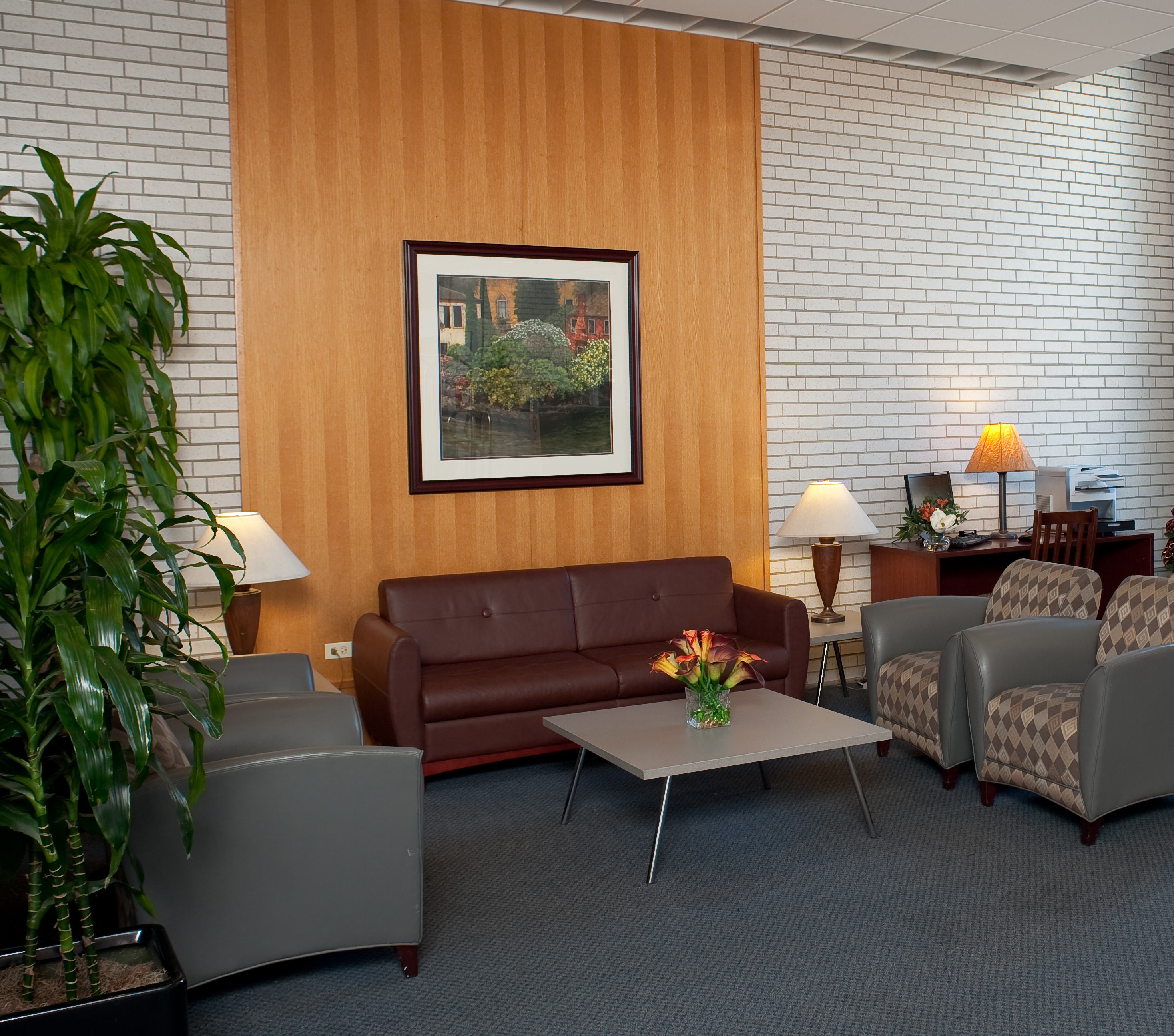 The lobby at the Midtown Hotel.