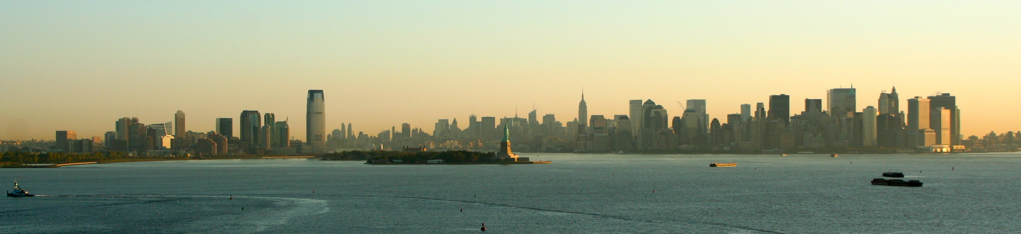 New york city skyline in early morning